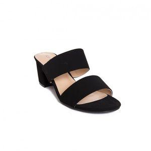 wet seal black block heels sandal size 6.5